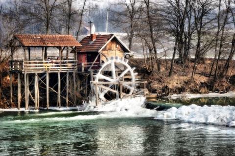 Vattenkvarn vid Ukrinaån